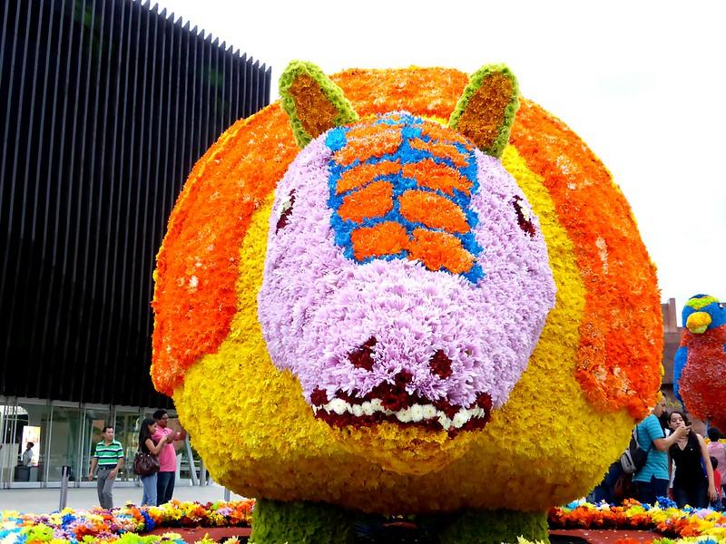 Animal hecho con flores